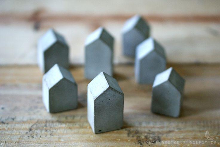 Oh Beton! Kleine DIY Betonbausiedlung. DIY Concrete Houses.