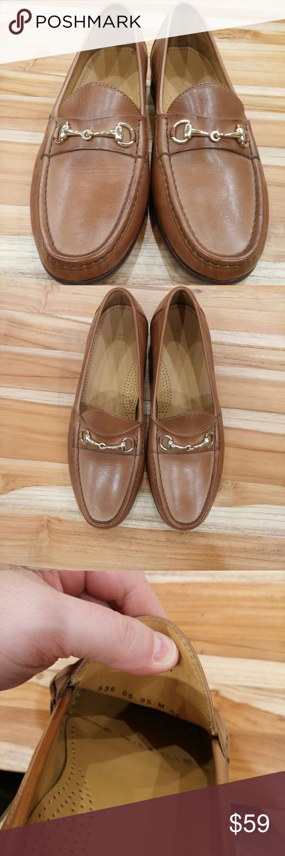 Cole Haan Ascot Bit Loafers British Tan Barely worn (twice) Cole Haan Ascot Bit Loafers in British Tan, size 9 1/2 D.? Style #C09546.?  Currently on sale on the Cole Haan Outlet website for $102.00.?  Description from the site:? Flawlessly crafted of supple calfskin with genuine hand-sewn construction and horse-bit metal hardware.? The sleek, elegant profile looks debonair with a tailored blazer and slim trousers or dark denim and a cashmere pullover.? Cole Haan Shoes Loafers & Slip-Ons