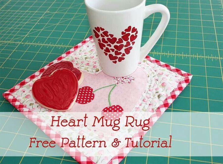1265 best Mug Rugs images on Pinterest | Carpets, Crafts and Heart : quilts and a mug - Adamdwight.com