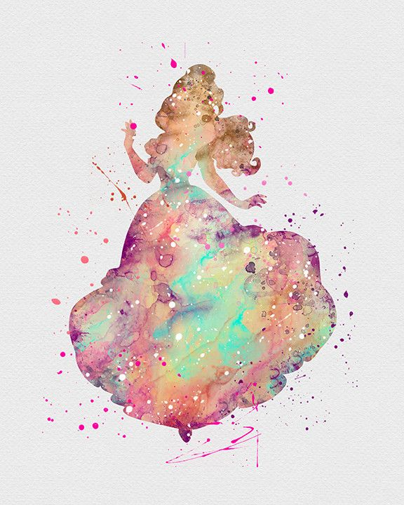 Belle Beauty and the Beast Watercolor Art