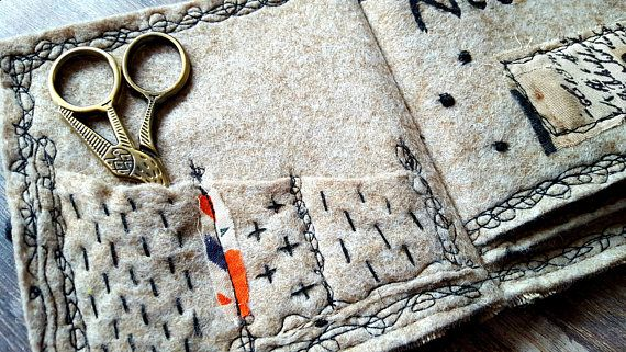 LONDON NEEDLE BOOK Felt Linen Luxury Hanging Case Needle