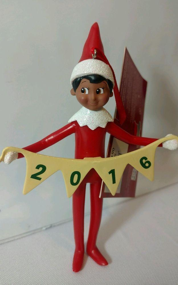 Elf on the Shelf Brown Skin Ornament 2016