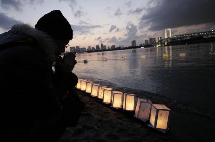 Así se recordó a las almas que se llevó el tsunami.