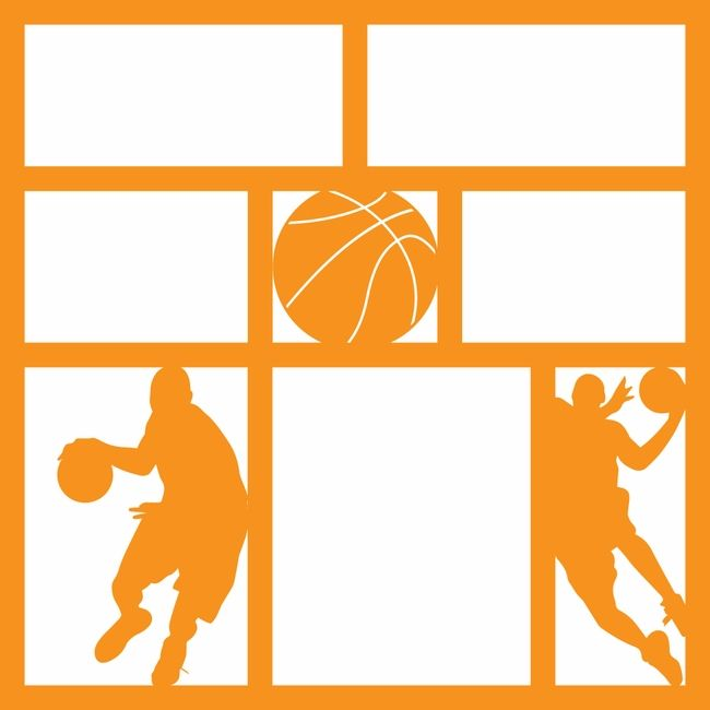 got game  basketball 12 x 12 overlay laser die cut clip art of baseball shoes clip art of basketball coaches