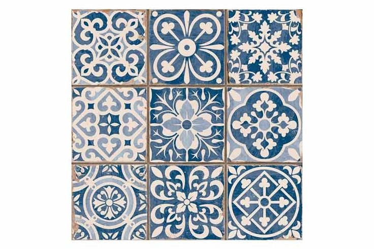 Tangier Blue Decor Tile 33x33cm - Tons of Tiles