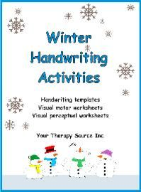 Winter Handwriting Activities Pinned by @PediaStaff – Please Visit http://ht.ly/63sNt for all our pediatric therapy pins