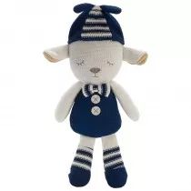 Navy Grayson Lamb Plush is crafted a soft cotton knitted with adorable applique details. Great for snuggles, imaginary play and as a travel companion!