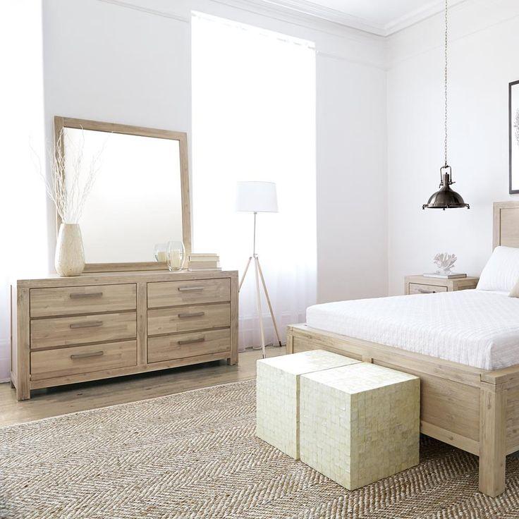 Atelier - Hampton chic - 6-drawer wood dresser