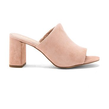 "Beverly Heel by BCBGeneration. Suede upper with man made sole. Slip-on styling. Heel measures approx 3"""" H. BGEN-WZ94. 34BC003 SHL. Founded in 1989,..."