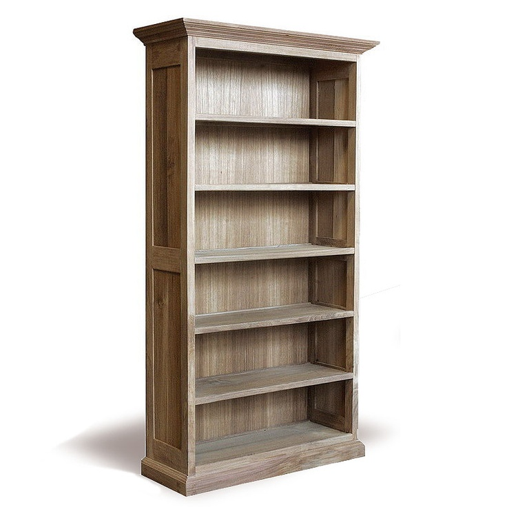 Reclaimed Wood Tall Bookcase 4Sv Gallery