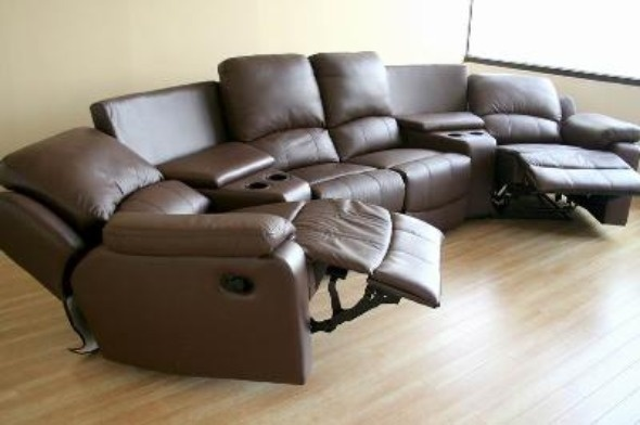 reclining leather theater seatings