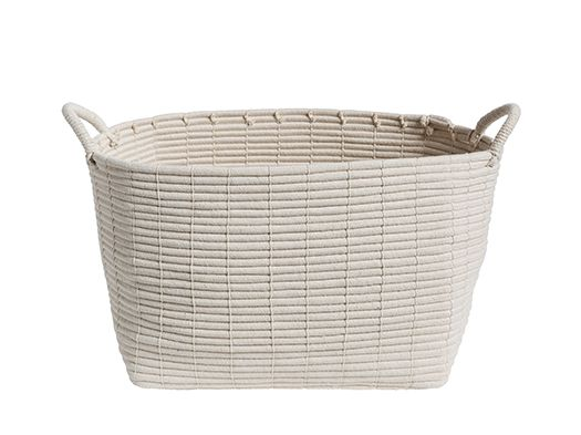 Bailey tall cotton rope basket lge 40x30xH37cm - Categories