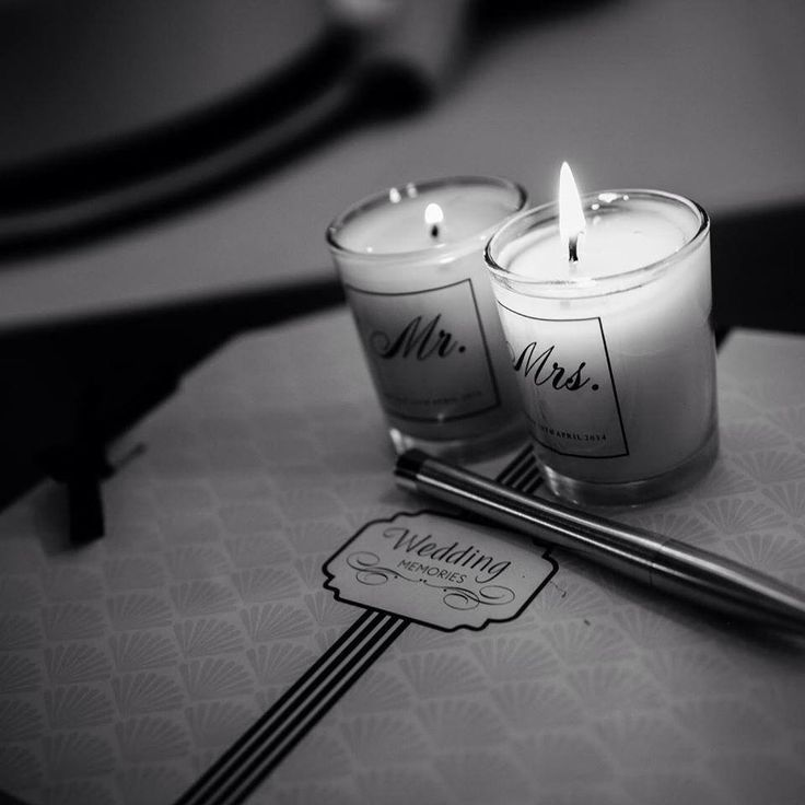 Mr & Mrs Soy Candles by Dita