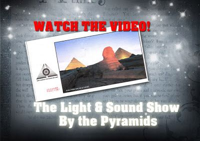 WATCH the Pyramids by Night! When the sun sets and the star covered darkness arrives, the lights are lithe by the great pyramids.
