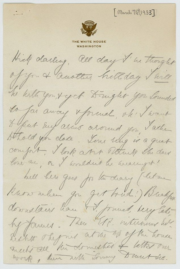 Eleanor and Hick exchanged well over three thousand letters. They both 'ached' for each other but Eleanor was more expressive in her longing to touch and hold Hick. In this letter, she finds confirmation of Hick's love in the ring Hick gave her