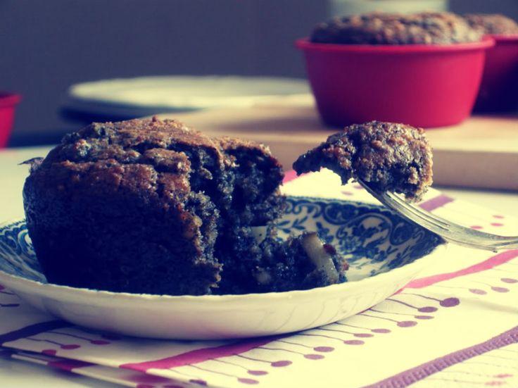 Black Sesame and Pear Muffins | Mrs. Garlic Head