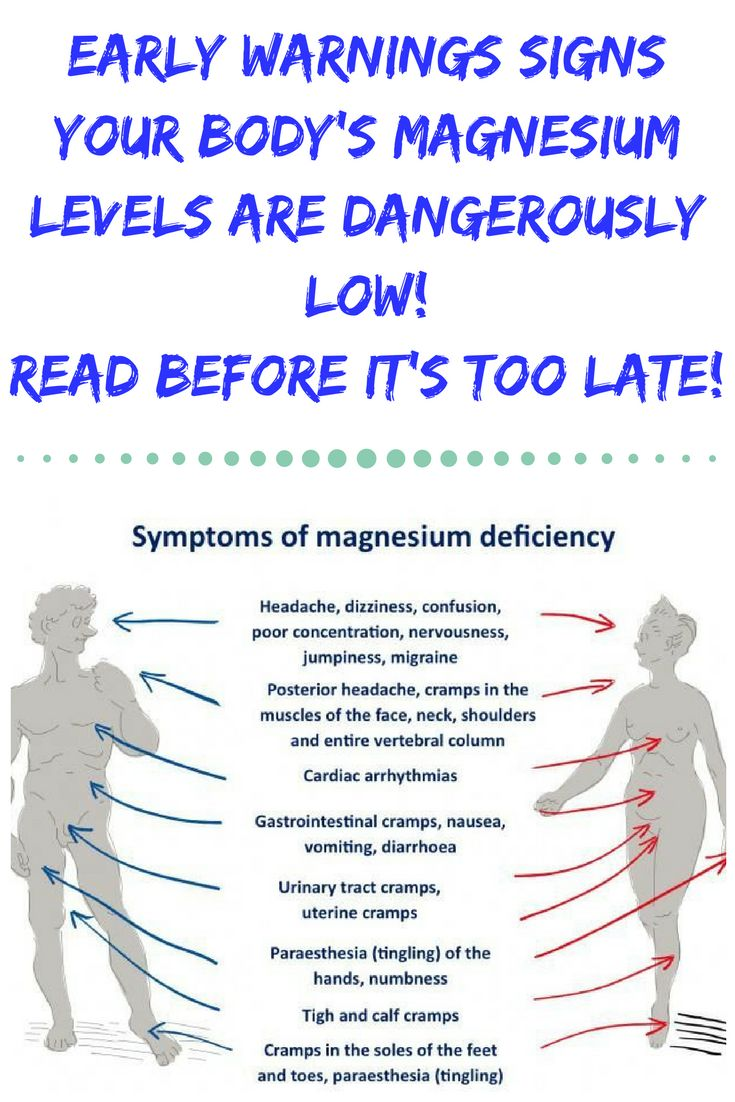 EARLY WARNINGS SIGNS YOUR BODY'S MAGNESIUM LEVELS ARE DANGEROUSLY LOW! READ BEFORE IT'S TOO LATE!