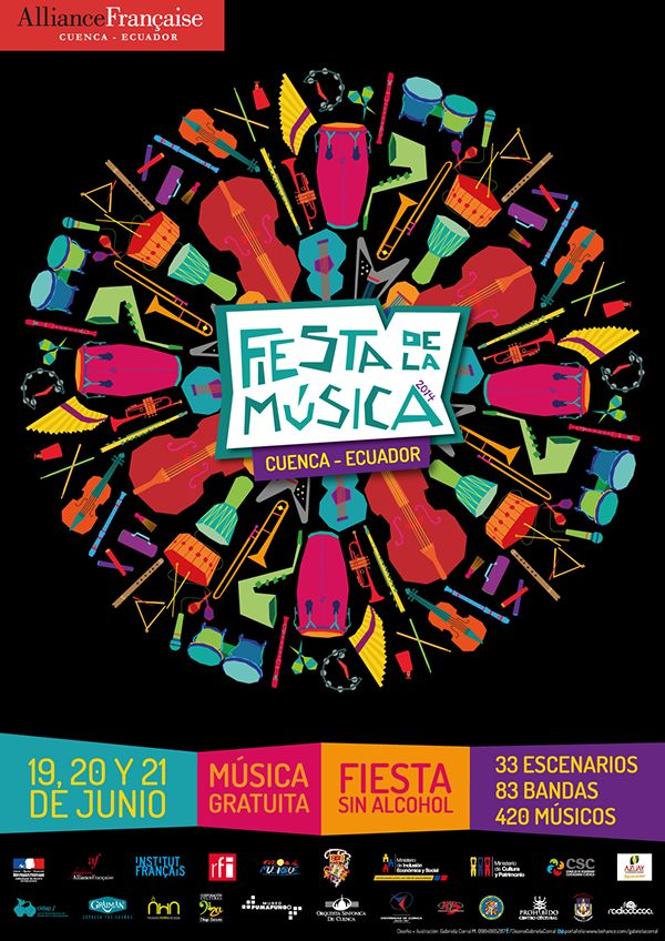 Imagen Fiesta de la Música 2014 / Fête de la musique by Gabriela Corral, via Behance
