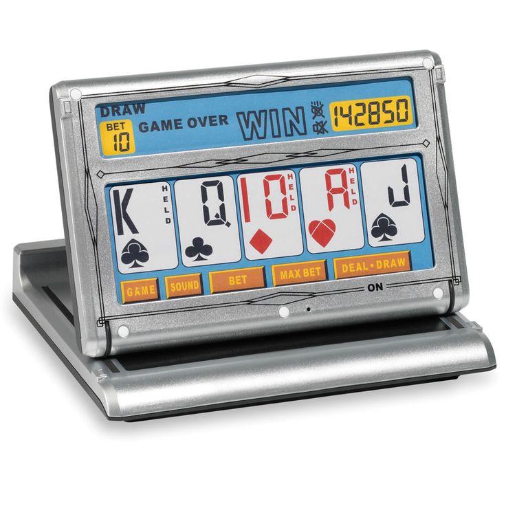 The Touchscreen Video Poker Game - Hammacher Schlemmer