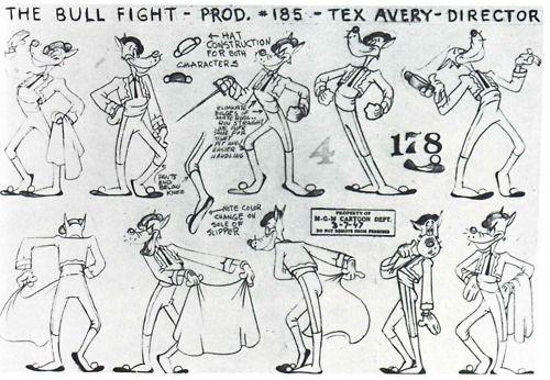 The Art Of Animation, Tex Avery: The Bull Fight, Model Sheet