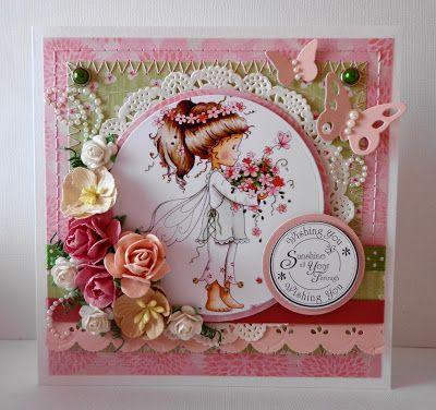 handmade card, Hobby House Topper, Roses, Pearls