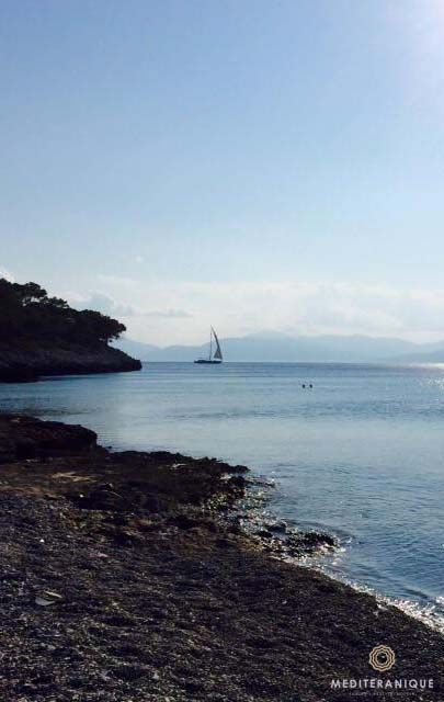 Beach on Agistri Island, Greece. For luxury hotels in Greece visit http://www.mediteranique.com/hotels-greece/