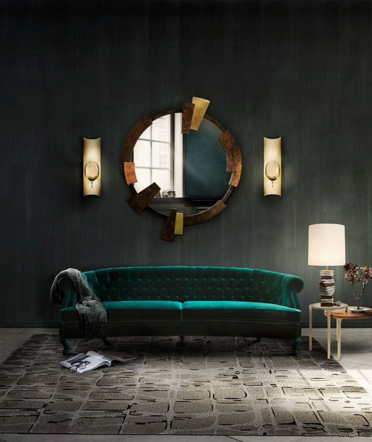 8 Reasons Why You Need A Green Sofa In Your Living Room | Modern Sofas. Velvet Sofa. #greensofa #velvetsofa #modernsofas Read more: http://modernsofas.eu/2017/04/27/reasons-need-green-sofa-living-room/