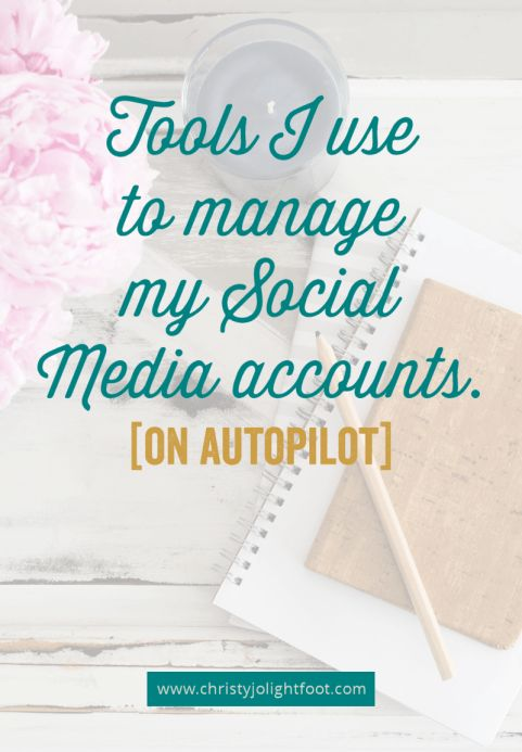 A list of the social media tools I use to manage my social accounts. These programs run on autopilot which saves me time each month to focus on the things that make me money!