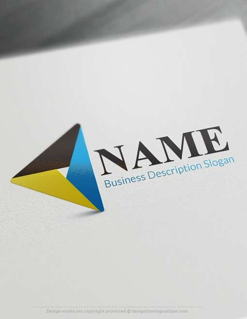 Free Logo maker - Triangle Logo design Ready made Online logo template decorated with a free Triangle Logo design. Triangle logos excellent for consulting, management, Manpower company, Technology etc.    Creating a Logo with our Free Logo Maker is fast and easy. Browse our ready-made logo gallery and find the perfect Triangle Logo template for your business. We have 1,000's of samples for you to choose