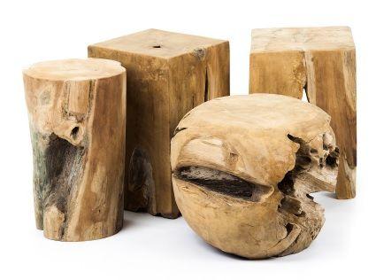 Taburete mesa auxiliar madera de teka maciza aptas para - Mesas de madera para exterior ...