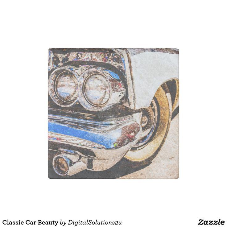 Classic Car Beauty Stone Magnet