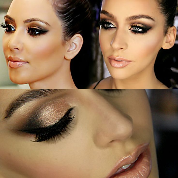 I actually think the girl on the rights eye makeup looks better than Kim's. What a difference it makes when you blend your eyeshadow!