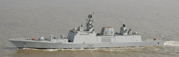 Indian Navy F 47 - INS Shivalik, lead ship of it's named class. 12-15 expected to be built.                         Armament:  • OTO Melera 76mm SRGM • 2 x AK-630 30mm guns • 32 x Barak SAM [5] • 9M317 (SA-N-12) SAM, total of 24 missiles • 8 x Klub/Brahmos cruise Missiles [6] • 90R missiles (ASW) • DTA-53-956 torpedoes • Klub ASW Missile • 2x RBU-6000 (RPK-8)