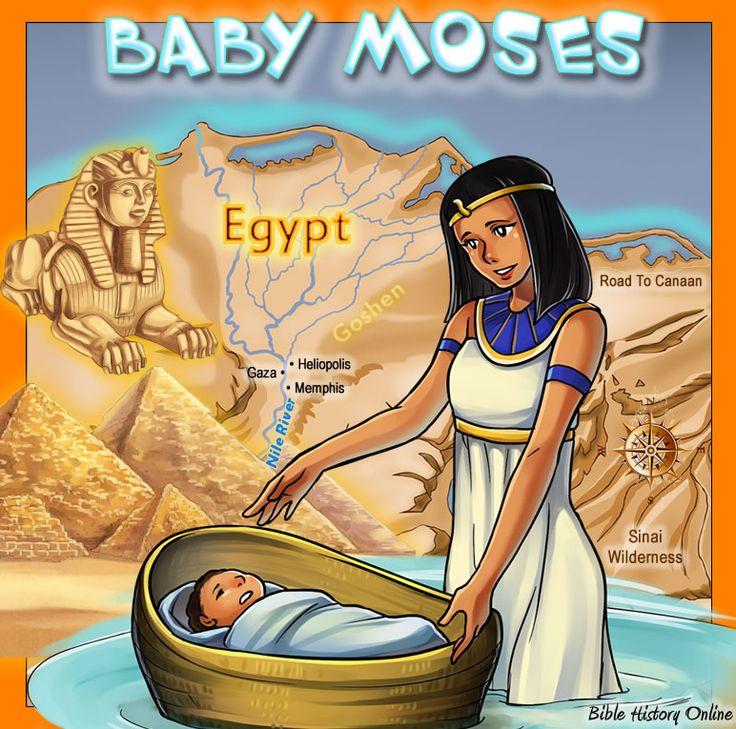 【創世記 Genesis 】 プリンセス発見赤ちゃんモーセの地図