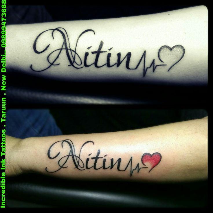 #Nitin #Name #HeartBeat #Tattoo Nitin Name Tattoo