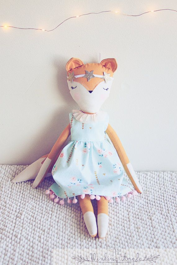 Fox Doll Fox Plush Soft Fox Plush Toy by TheWinkingApple on Etsy