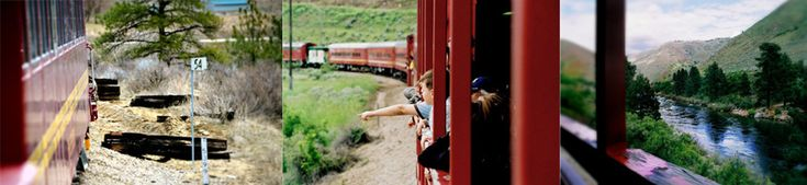 Thunder Mountain Line, Horseshoe Bend, ID. The train travels from HB to the Ashley Inn in Cascade. There are many events through the year including pumpkin patch train, Christmas train, BBQs, and a murder mystery train. Prices are a little steep, but well worth it on in a while. I am looking forward to taking Zac!