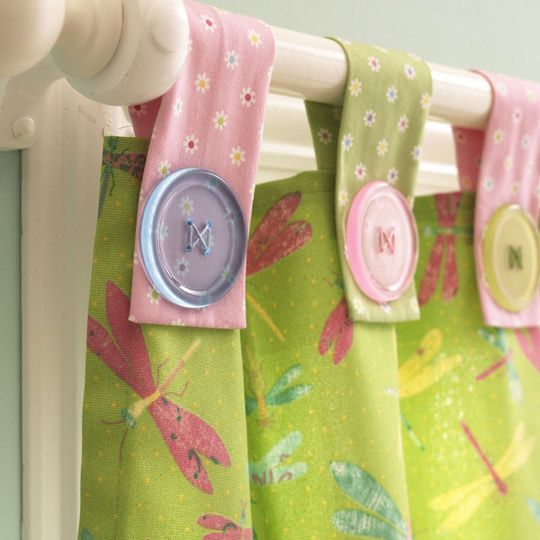 To get more buttons into the nursery... curtain idea