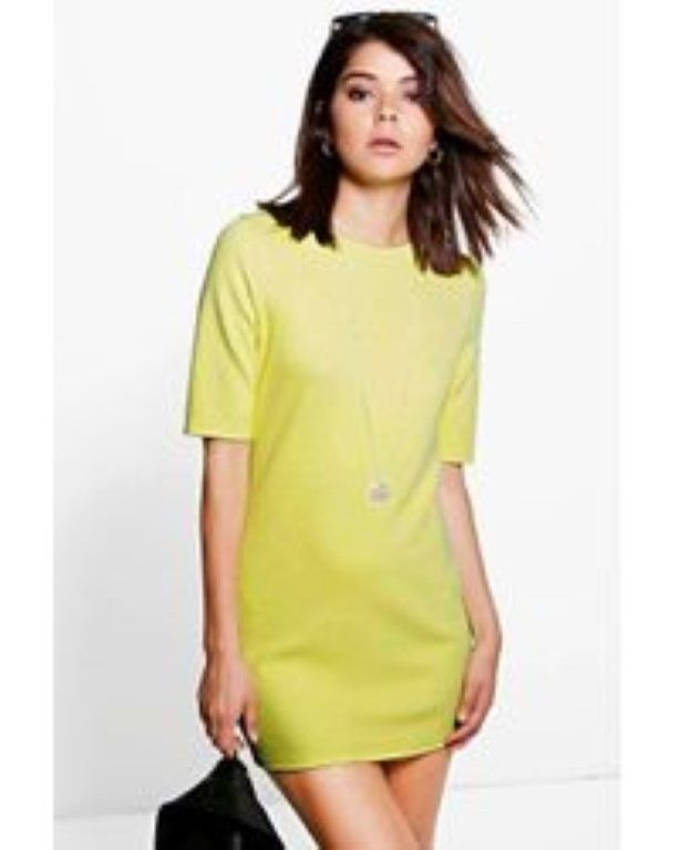 d81487ea112 Boohoo Yellow Keira Midi Sleeve Tunic Dress Size Large Box47 00 P #fashion  #clothing #shoes #accessories #womensclothing #dresses (ebay link)