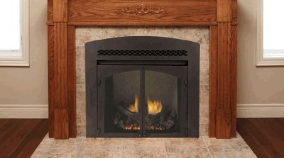 I like the simplicity of this firebox.  Surround with rock and rustic mantle. Monessen Lo-Rider Clean-Face Vent-Free Firebox with Herringbone Refractory Firebrick - 32 Inch