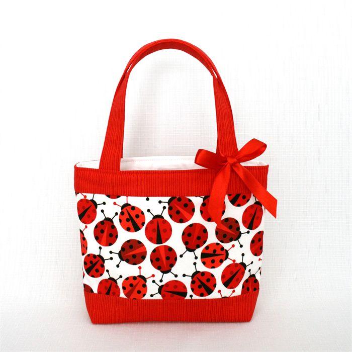 Mini Tote Bag - Ladybug / Ladybird / Ladybeetle | Vicki Elle | madeit.com.au
