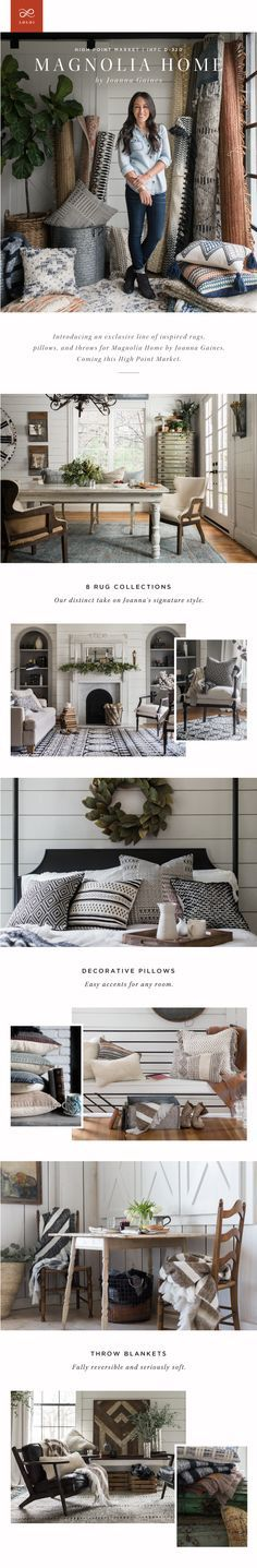 The Joanna Gaines designed, Magnolia Home Collection for Loloi Rugs is set to premier at Highpoint Market in April 2016!
