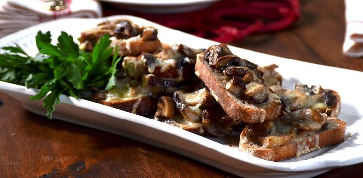 Just wanted to share this delicious recipe from Lidia Bastianich with you - Buon Gusto! Baked Mushroom Crostini
