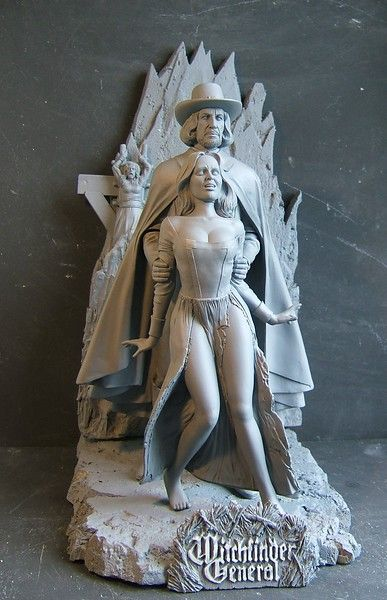 A new model kit from Resin Crypt featuring Vincent Price from Witchfinder General.  Sculpted by Robert Price.