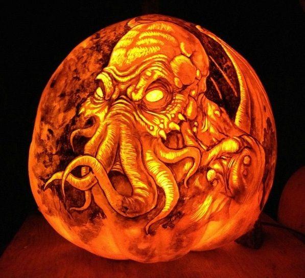 Evil+Jack+O+Lantern   Cthulhu pumpkin from the Jack-O-Lantern Spectacular in Providence ...