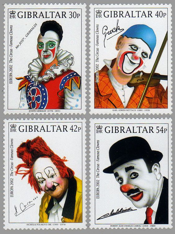 Europa 2002 'The Circus, Famous Clowns'