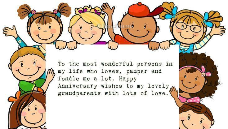 Anniversary Wishes For Grandparents From Grandchildren Happy
