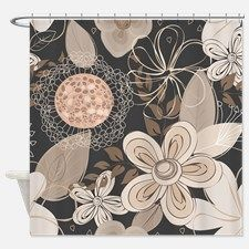 Floral Shower Curtain for