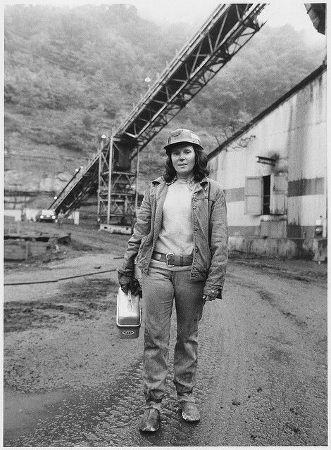 Linda King Finds Working as a Roof Bolter's Helper at the Bullitt Mine in Big Stone Gap, Virginia, More Challenging and Better Paying Than Her Previous Job in a Garment Factory. U.S. National Archives' Local Identifier: NWDNS-220-LC-MURRAY101(12A). Production Date: 1979. Photographer: Murray, Kenneth Made available by the U.S. National Archives at http://www.flickr.com/photos/usnationalarchives/3904009636/. No known copyright restrictions.