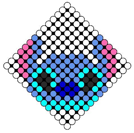 Stitch Head Perler Bead Pattern | Bead Sprites | Characters Fuse Bead Patterns